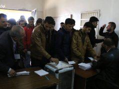 مشاركة المواطنين في انتخابات بلدة عنجارة.