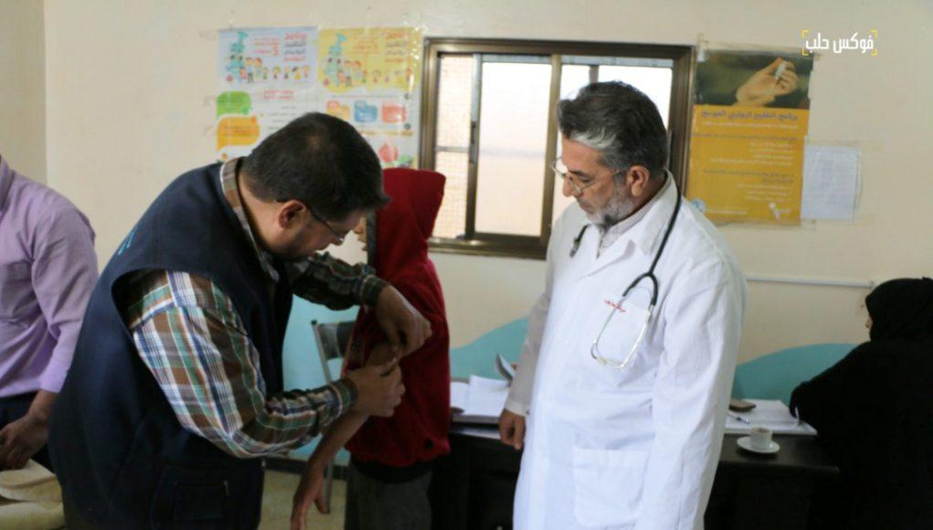 حملة اللقاح ضد الحصبة والحصبة الألمانية في الشمال السوري.