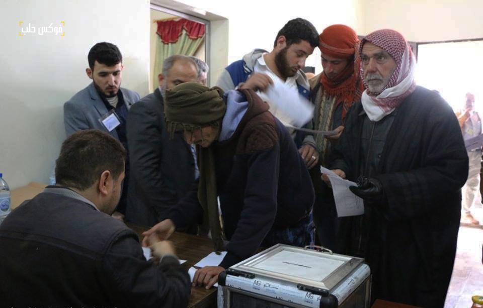 مركز انتخابي في بلدة عنجارة.