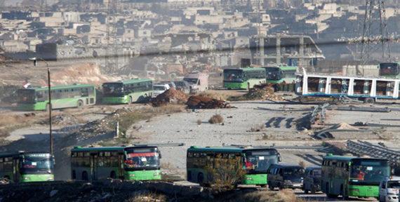 التهجير القسري لأهالي حلب -أنترنيت
