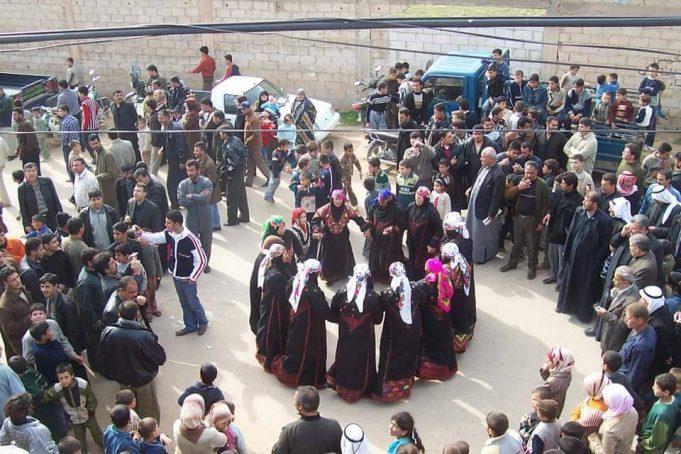 الصورة لعرس قديم في ريف إدلب الجنوبي