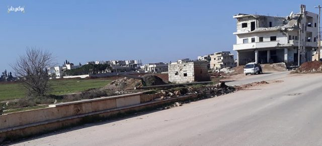 أحد أحياء قرية الفوعة بريف إدلب