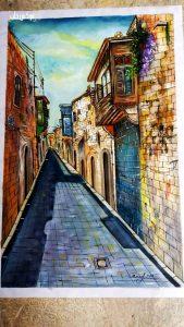 لوحة من عمل الفنان محمد عساف