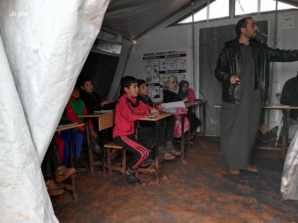 """غرفة صفية في مدرسة """"شويحنة البوعيسى"""" في مخيم قرطبة1"""