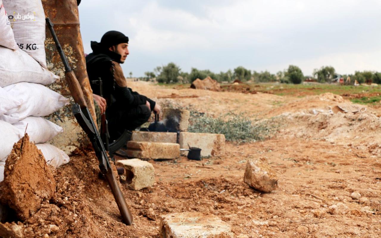 واحدة من نقاط الرباط بريف حلب الغربي