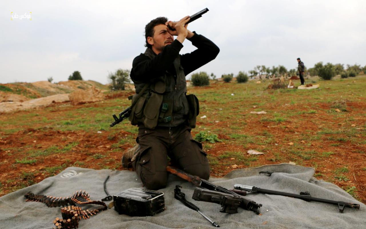 الاستعدادت العسكرية في خط الدفاع الثالث بريف حلب الغربي