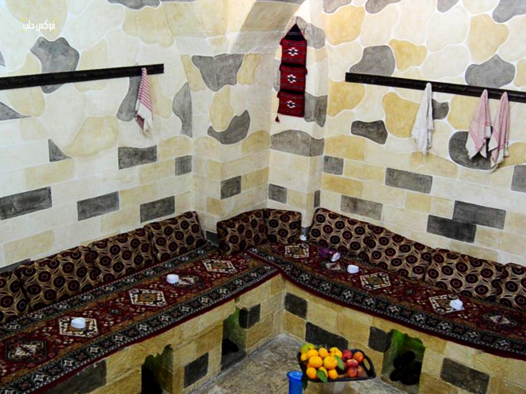 ساحة الاسترخاء والراحة في حمام الريحاوي بمدينة أريحا