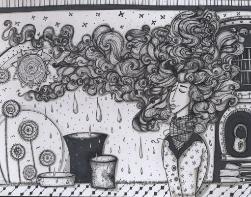 الصورة للفنانة السورية ديما نشاوي -أنترنيت