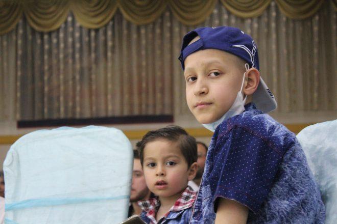 أطفال مصابون بالسرطان في جمعية الأمل -المصدر صدى الشام