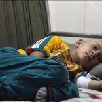 مريض سرطان من الغوطة الشرقية -المصدر مواقع التواصل الاجتماعي