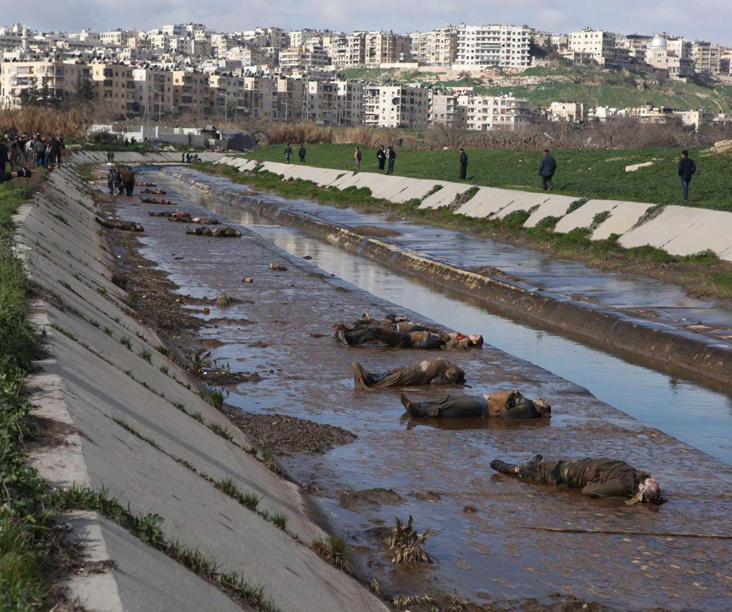 مجزرة نهر قويق بحلب -أنترنيت