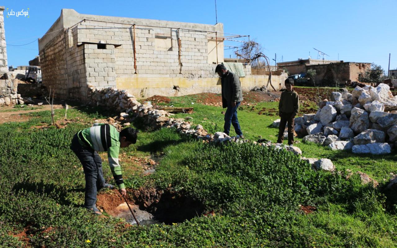 انتشار الجور الفنية في قرية ميزناز بريف حلب الغربي