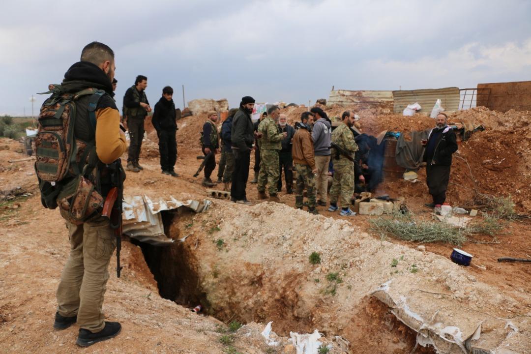 التحصينات في خط الدفاع الثالث بريف حلب الغربي -فوكس حلب