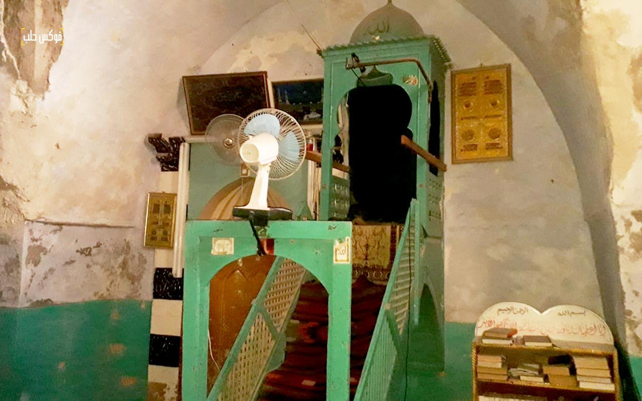 منبر جامع التكية في مدينة خان شيخون