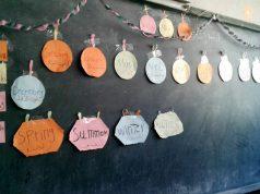 الصورة من مشروع التعليم المسرع في مدرسة بسام شاوي بإدلب