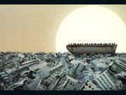 """لوحة بعنوان """"طوفان"""" من تصميم الفنان السوري """"عمرانوفي"""" -أنترنيت"""