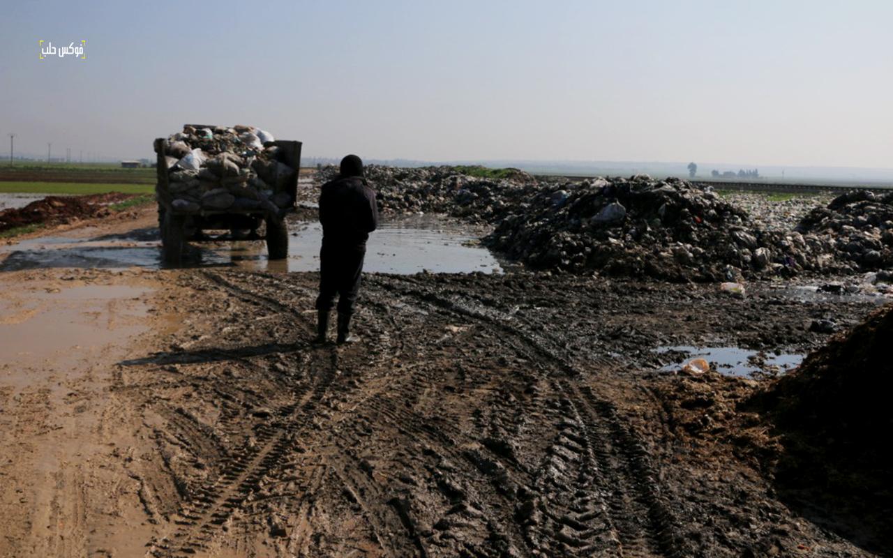 مكبات للقمامة بريف حلب الغربي