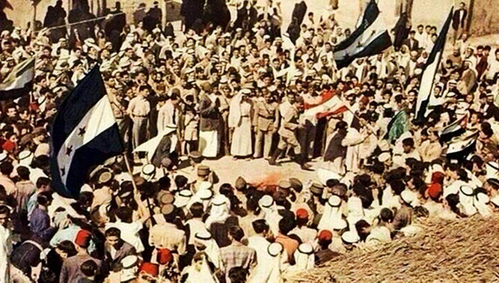 أهالي دير الزور يحتفلون بعيد الجلاء (إنترنت).