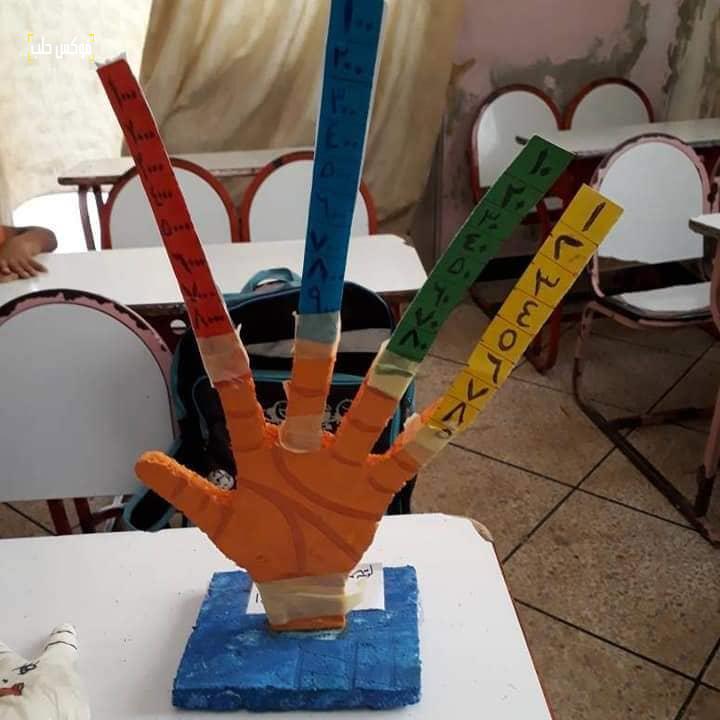 مجسم على شكل اليد لمساعدة مبتوري الأطراف العلوية في إنجاز عمليات الحساب الذهني.