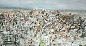 حلب بريشة الفنان التشكيلي مضري حسن إبراهيم -إنترنيت