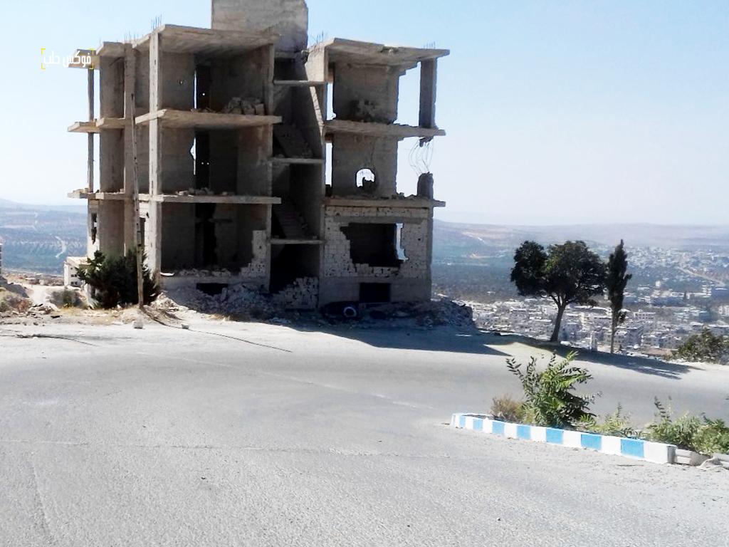 جزء من الدمار في أريحا بعد الضربات الأخيرة