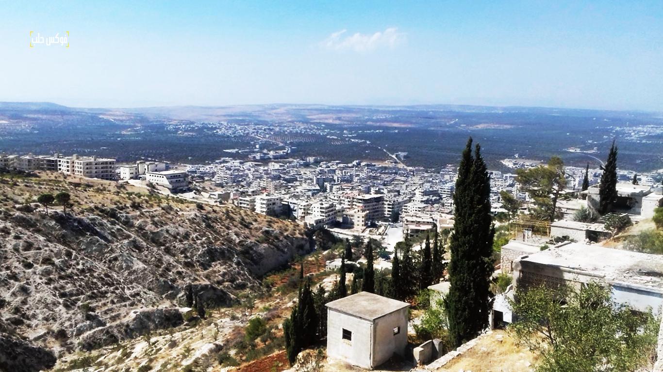 إطلالة على مدينة أريحا من جبل الأربعين قبل الضربات الأخيرة