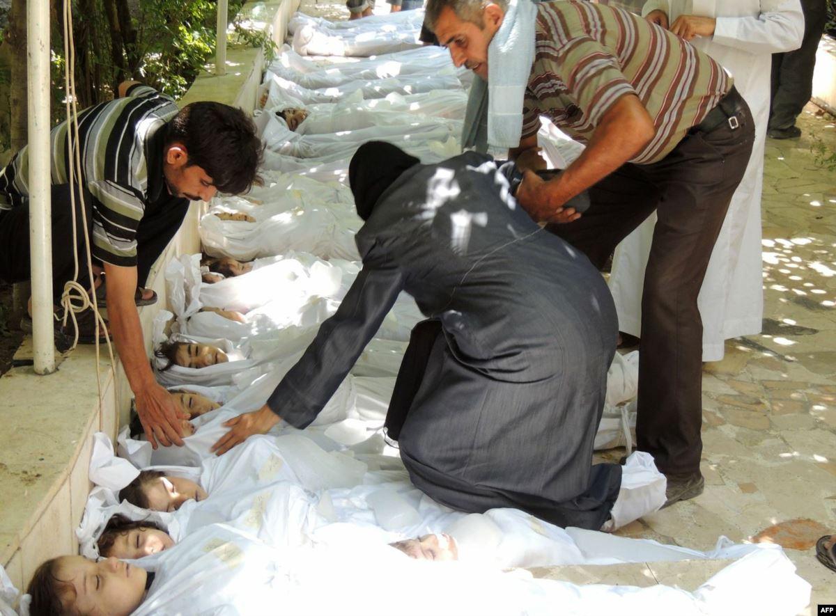 شهداء مجزرة الغوطة 2013-انترنت