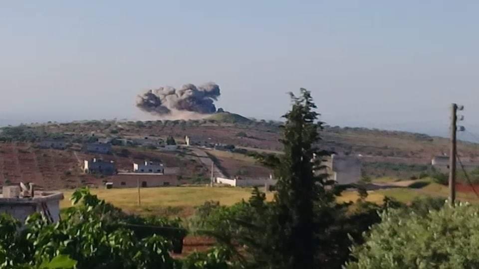 استهداف تل النار جنوب قرية كفرسجنة -إنترنيت