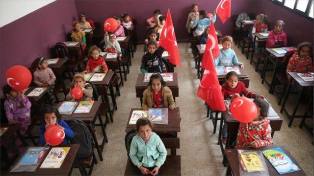 الصورة من الإنترنيت لواحدة من مدارس عفرين