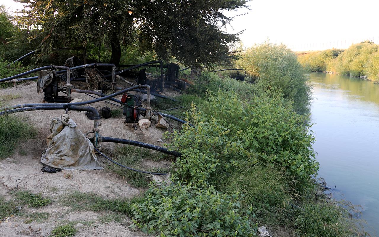 ري المحاصيل الزراعية عبر الضخ من مياه العاصي