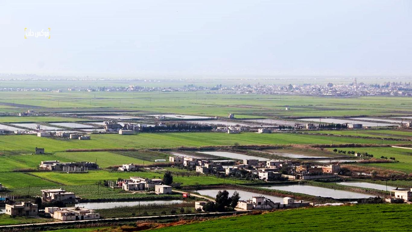 الأراضي الزراعية على حوض نهر العاصي