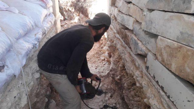 خلال عمل سرايا المقاومة بتدشيم جبهات ريف حلب الغربي قبل أشهر -فوكس حلب