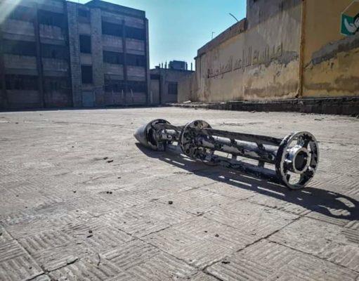الصورة لإحدى المدارس التي تم استهدافها صباح اليوم -إنترنيت