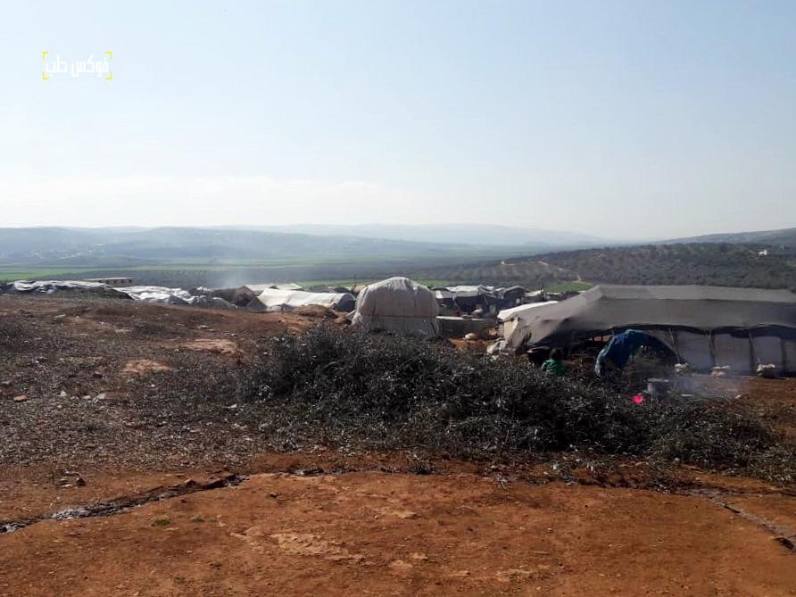 مخيم الكرامة بريف إدلب، حيث ينتشر الجرب بين عدد من أفراده