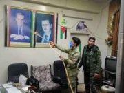 الصورة من الانترنيت لحملة تعقيم ضد الكورونا في مناطق النظام