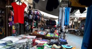 الصورة لأحد الأسواق في مدينة إدلب