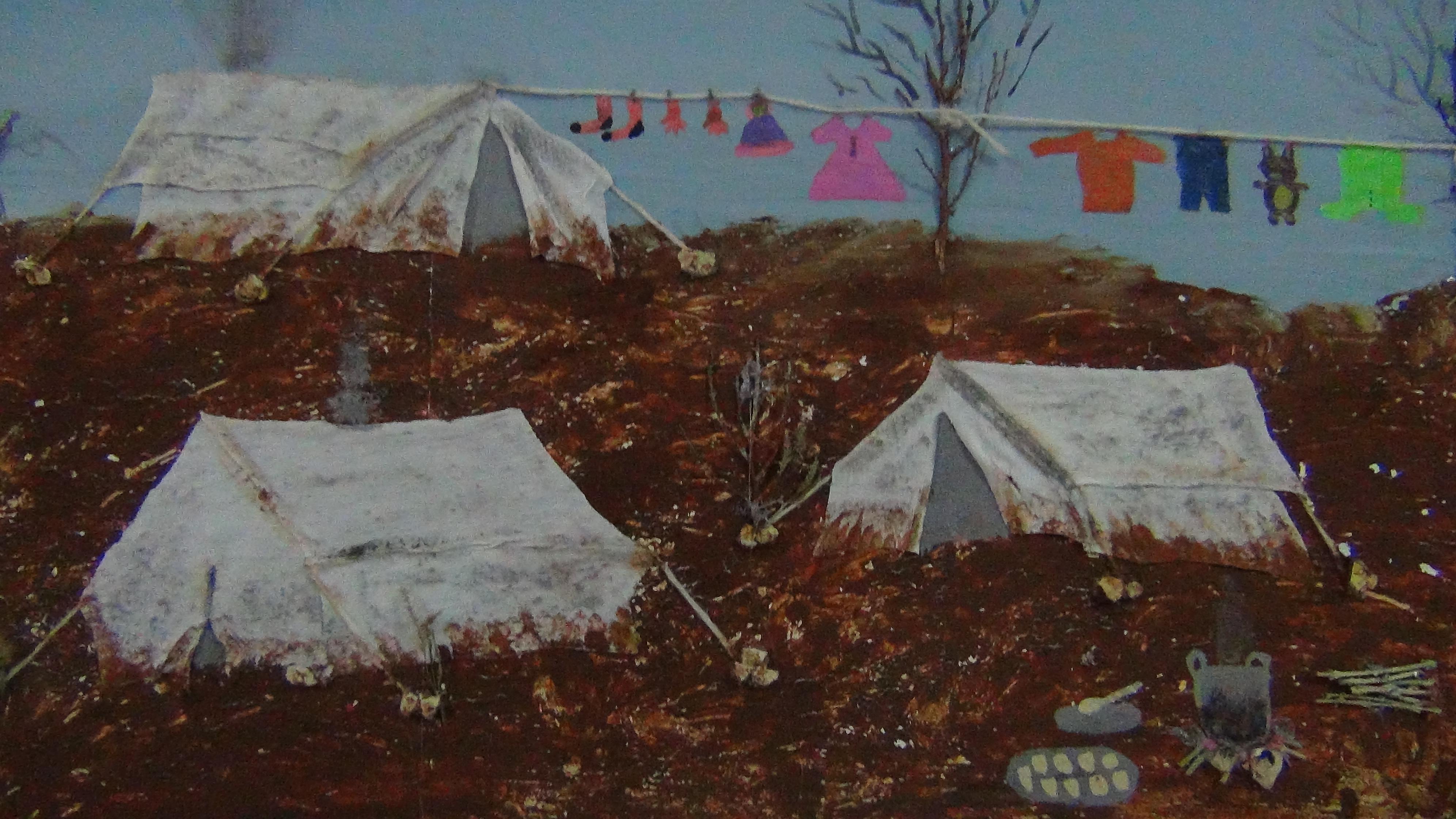 من معرض الرسامة أية ديب في إدلب -فوكس حلب
