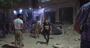 الصورة من استهداف مدينة الباب الأخير -إنترنيت