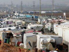 الصورة لواحد من المخيمات السورية في لبنان -إنترنيت