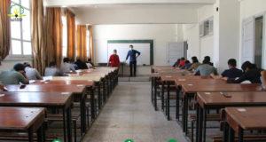 جانب من الامتحانات الجامعية -المصدر: جامعة إدلب