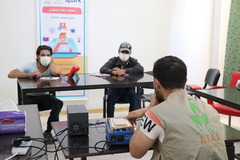 جانب من التدريبات في معهد عطاء المهني -فوكس حلب