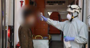 فحوصات فيروس كورونا في مدينة الباب -المصدر: مديرية الدفاع المدني بحلب