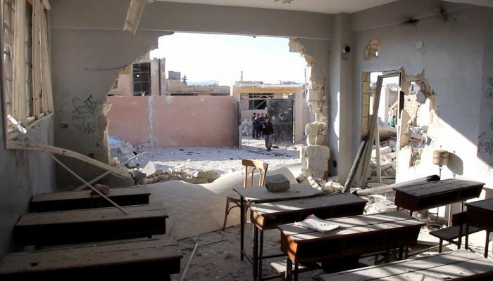 تعرض المدارس للقصف في إدلب -إنترنيت