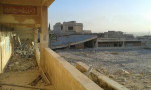 مدرسة ناصر الذين بعد تعرضها للقصف -إنترنيت