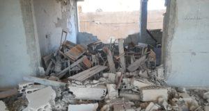 مدرسة شهداء المغارة في جبل الزاوية بعد تدميرها