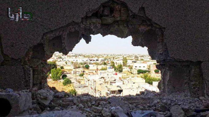 الصورة لمدينة داريا -إنترنيت