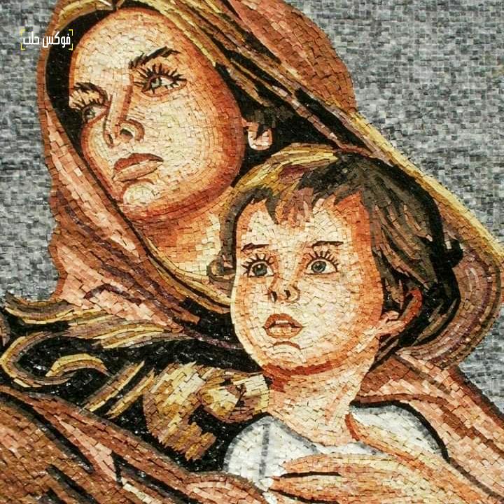 لوحة فسيفسائية من صناعة ورش الموزاييك في إدلب