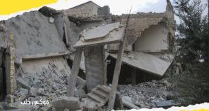 الدمار في قرية كفرنوران نتيجة الحملة العسكرية الأخيرة