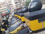 """دراجات التوصيل في مشروع """"بين يديك"""" -المصدر: إدارة المشروع"""