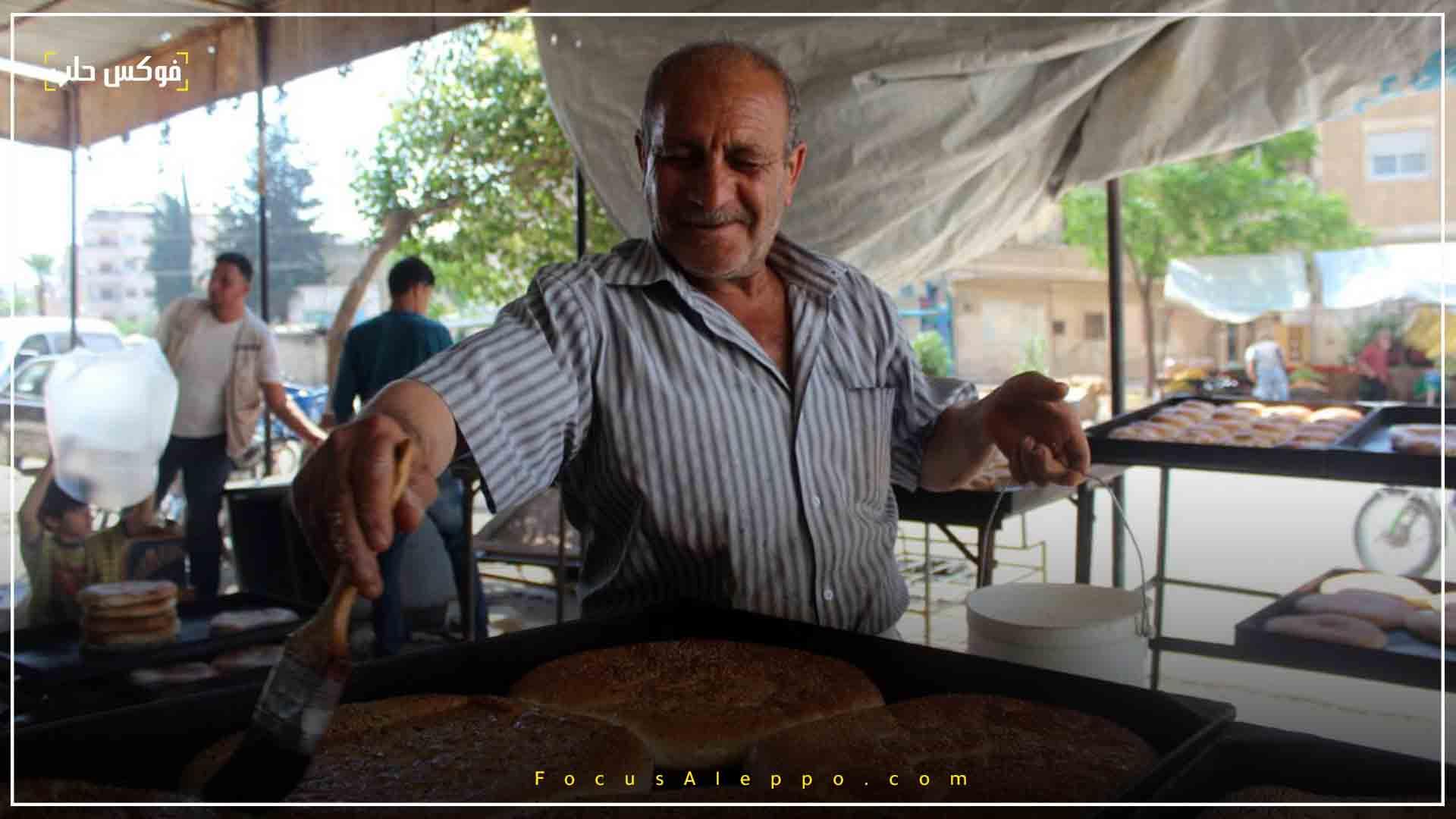 بائع معروك  في حي الثورة بمدينة ادلب